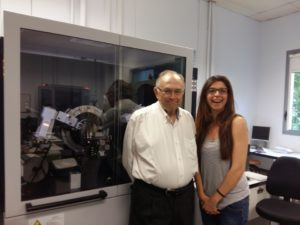 Dr. Carles Miravitlles and Dra. Anna Crespi at the ICMAB Lab